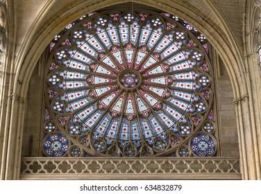 SAINT GERMER DE FLY, FRANCE, APRIL 16, 2017 : architectural details of saint-germer-de-fly church, april 16, 2017, in  saint-germer-de-fly, France