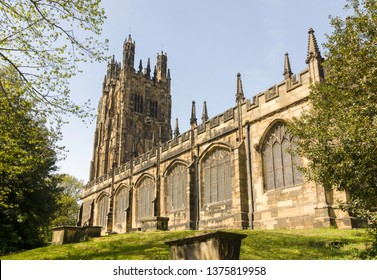 Saint Giles parish church in Wrexham built in 1506 it is the largest medieval parish church in Wales and described as one of the seven wonders of Wales