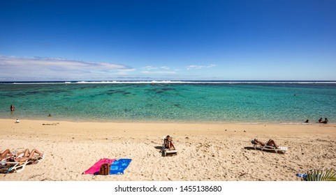 SAINT GILLES, LA REUNION, FRANCE, MAY 02 :  Saint gilles beach, La Reunion island, Indian Ocean, may 02, 2016, in Saint Gilles, La Reunion, France