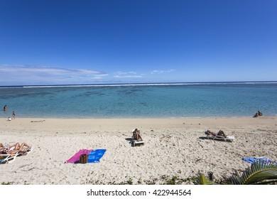 SAINT GILLES, LA REUNION, FRANCE, MAY 02 :  Saint gilles beach, La Reunion island, Indian Ocean, may 02, 2016, in Saint Gilles, La Reunion, France