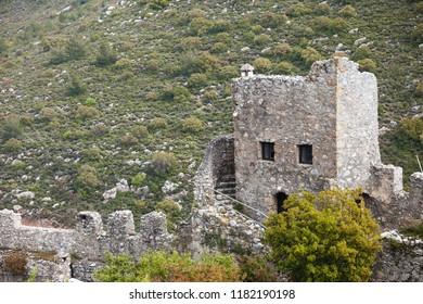 Saint Hilarion Castle in Girne (Kyrenia) North Cyprus