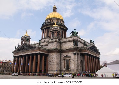 Saint Isaacs Cathedral dome in Saint-Petersburg, Russia