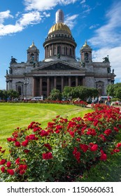 Saint Isaac's Cathedral or Isaakievskiy Sobor in Saint Petersburg, Russia, is the largest Russian Orthodox cathedral in the city