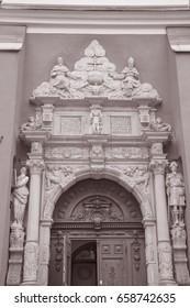 Saint James - Jacob Church, Stockholm, Sweden in Black and White Sepia Tone