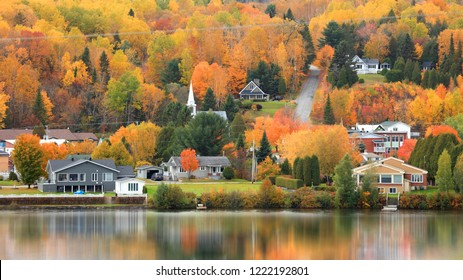 Saint Jean Des Piles town landscape in Quebec, Canada