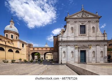 Saint Jerome of the Croats (Chiesa Rettoria San Girolamo Dei Croati a Ripetta) and San Rocco (Chiesa di San Rocco all Augusteo) churches in Rome, Italy