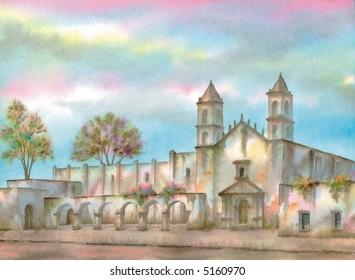 Saint John Convent, Motul, Yucatan, Mexico