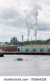 SAINT JOHN, NEW BRUNSWICK, CANADA - September 5, 2013: Saint John is a port in the Bay of Fundy. The population of the city has declined but tourism from cruise ships has brought a boon to businesses.
