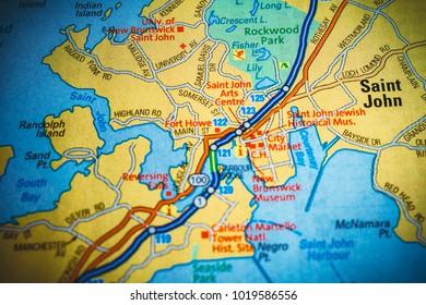 Saint John Map Images Stock Photos Vectors Shutterstock
