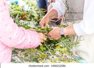 Saint John's or Dew Holiday Festival (Rasos svente, Jonines, Midsummer Day, Saint John's Day) is a midsummer folk festival celebrated on June 24 all around Lithuania (Latvia, Estonia).Vilnius, 23 june
