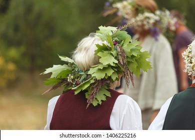 Saint John's or Dew Holiday Festival (Rasos svente, Jonines, Midsummer Day, Saint John's Day) is a midsummer folk festival celebrated on June 24 all around Lithuania (Latvia, Estonia) Vilnius, 23 june