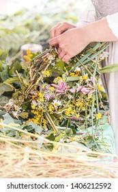 Saint Jonas' or Dew Holiday Festival (Rasos svente, Jonines, Midsummer Day or Saint John's Day) is a midsummer folk festival celebrated on June 24 all around Lithuania. Vilnius, 23 june 2018.