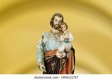 Saint Joseph and child Jesus of the Catholic Church - Sao Jose - Menino Jesus - St Joseph