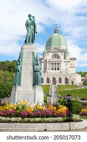 Saint Joseph Oratory construction began in 1904. The original Church was enlarged many times. The actual Basilica construction was terminated in 1967. Montreal, Quebec, Canada.
