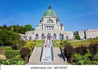 Saint Joseph's Oratory of Mount Royal (FR: Oratoire Saint-Joseph du Mont-Royal), Roman Catholic minor basilica and national shrine on Westmount Summit in Montreal, Quebec. Canada's largest church.