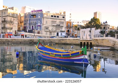 SAINT JULIAN, MALTA - MARCH 18: Main touristic harbour of Sliema city on March 18, 2014. Saint Julian is a part of Valletta, the capital and the largest city of Malta.