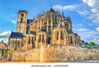 Saint Julien Cathedral of Le Mans in Pays de la Loire, France