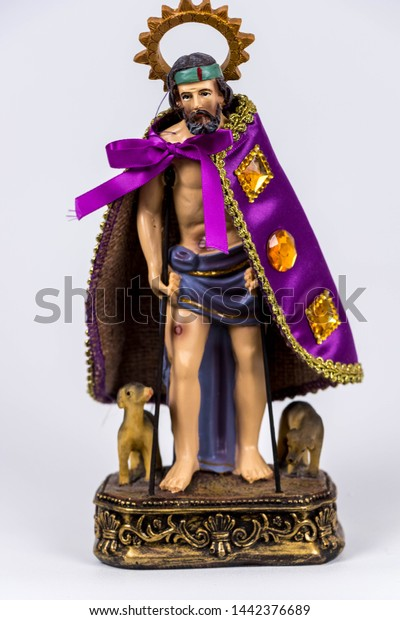 Saint Lazarus and his dogs.