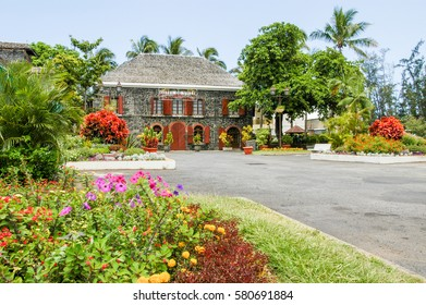 Saint Leu (La Reunion), France - 29 December 2002: Town hall of Saint Leu on La Reunion island, France