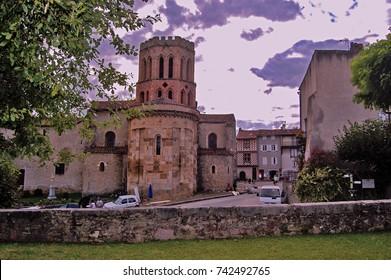 Saint Lizier village / Ariege . France / August.15.2014 - Old city view