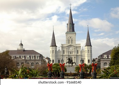 Saint Louis Cathedral, Jackson Square, New Orleans, Louisiana, United States