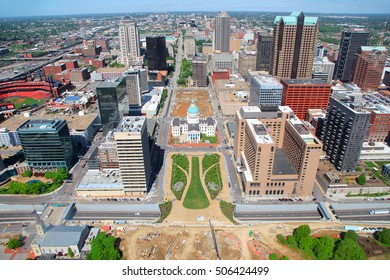 Saint Louis, MO, USA - April 28, 2016: Old courthouse in Saint Louis is Missouri's tallest habitable building from 1864 to 1894. On April 27,2016 Saint Louis, USA