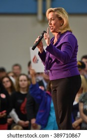 Saint Louis, MO, USA - March 12, 2016: Missouri Representative Ann Wagner stumped for Republican presidential candidate Ted Cruz at Parkway West High School.