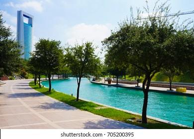 Saint Luca River walk in Monterrey Mexico