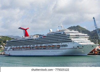SAINT LUCIA, LESSER ANTILLES - December 12, 2013: Saint Lucia is a country in the Caribbean Sea. Boating, resorts and tourist attractions are taking over from banana farming as the primary economy.