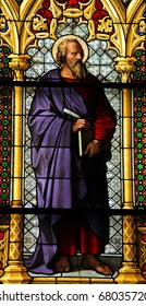 Saint Luke the Evangelist - Stained Glass window in Dom of Cologne