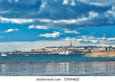 Saint Malo view from Dinard, Brittany, France