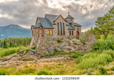 Saint Malo's Chapel on the Rock in the Rocky Mountains National Park area in Colorado