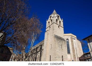 Saint Martial Temple at  the Agricol Perdiguier Square in Avignon France