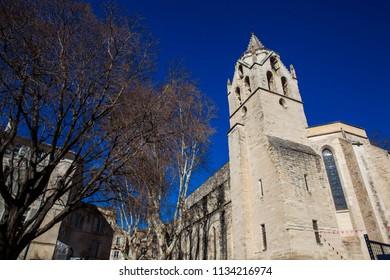 Saint Martial Temple at  the Agricol Perdiguier Square in Avignon France