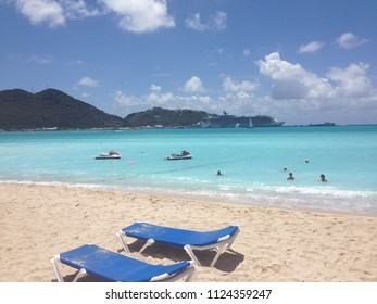 Saint Martin, The Friendly Island of Caribbean, Great Bay beach in a Dutch side.