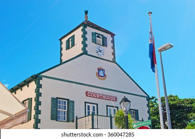 Saint Martin (Sint Maarten, St Martin), 16/03/2015:  the old courthouse of Philipsburg (1973), former private home of John Philips, Scottish captain in the Dutch navy and founding father of the town