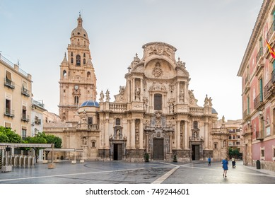 Saint Mary Cathedral at the place of Cardinal Belluga in Murcia - Spain