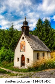 Saint Mary Chapel in the Village of Pardell, Val di Funes, Italy