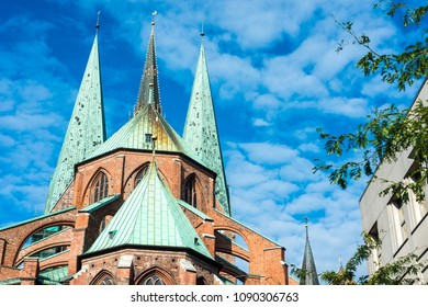 Saint Mary Church (Marienkirche), a symbol of the power and prosperity of Luebeck, Schleswig-Holstein, northern Germany.