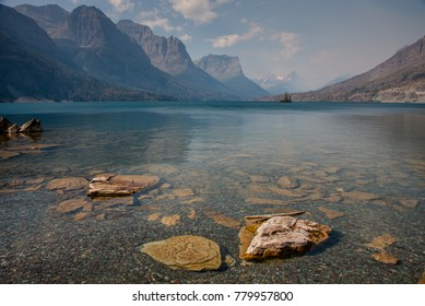 Saint Mary Lake in Glacier National Park, Montana.