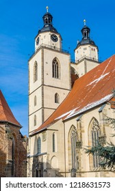 Saint Mary's City Church Lutherstadt Wittenberg Germany. Martin Luther's church. Founded in 1187, restored in 1900s.
