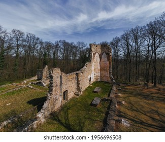 Saint Michael monastery ruins Hungary near by Nagyvazsony city. Ancient ruins from XIII century. Built by Pal Kinizsi. He is a famous hungaryan historical person. Pauline monastery. - Shutterstock ID 1956696508