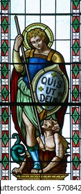 Saint Michael, stained glass
