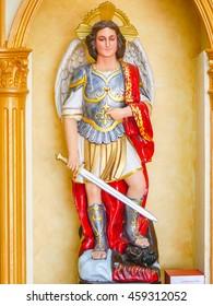 Saint Michael statue.