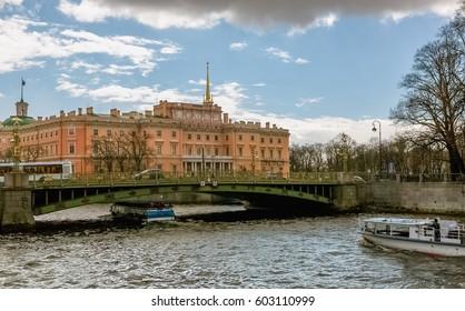 Saint Michael's castle in St. Petersburg, Russia