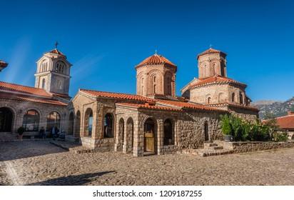 Saint Naum monastery at lake Ohrid in Macedonia