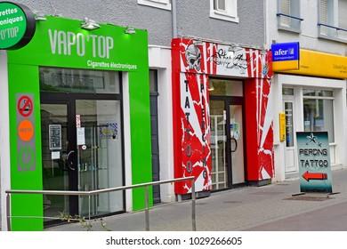Saint Nazaire, France - april 4 2017 : shop in the city center