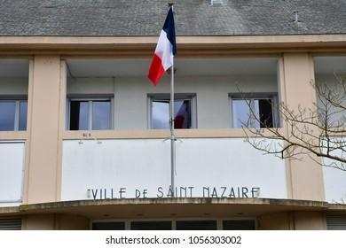 Saint Nazaire, France - april 4 2017 : the city hall of saint Marc