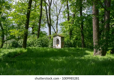 Saint Nicholas chapel near Kacina Chateau in public park, Czech republic