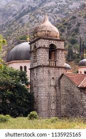 Saint Nicholas church dome and tower Kotor Montenegro